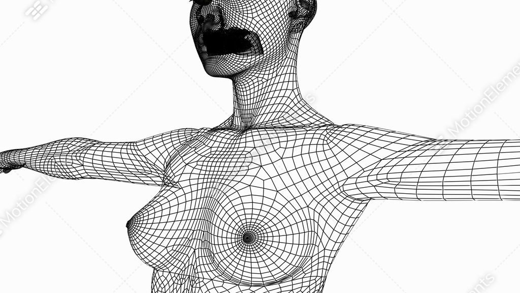 Rotation Of 3D Woman Body.female,girl,human,anatomy,medical,health ...