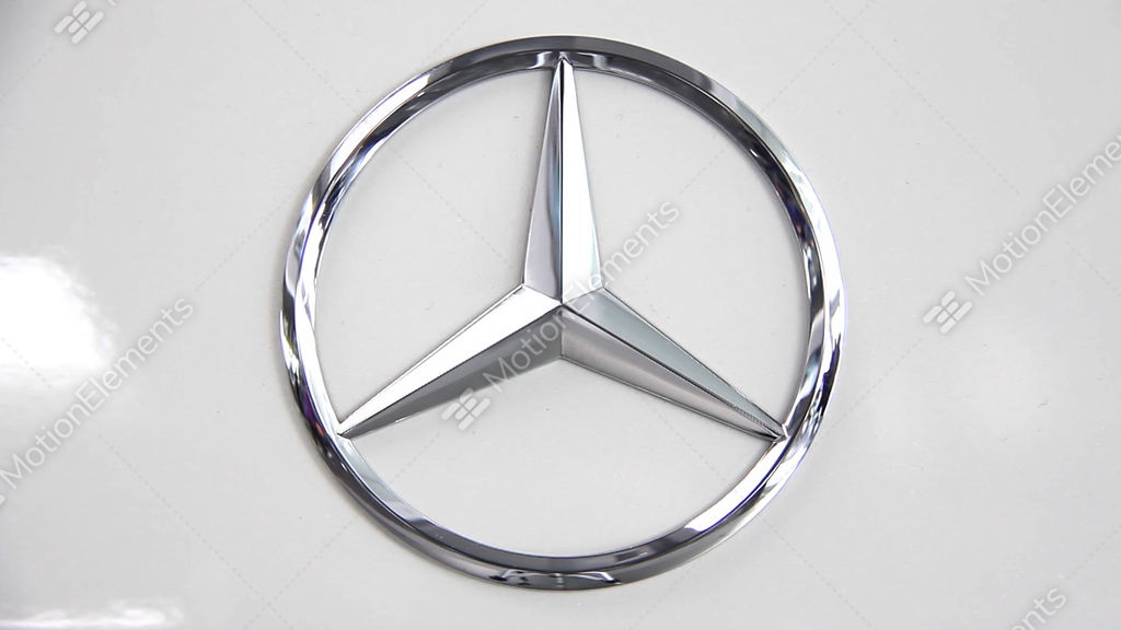 Mercedes Benz Emblem Stock Video Footage 6538633