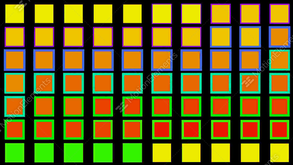 Color square matrix disco stock animation 644161 for 9 square matrix architecture