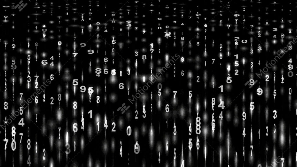 White Digital Matrixstock Tickerfinance Number Stock Animation