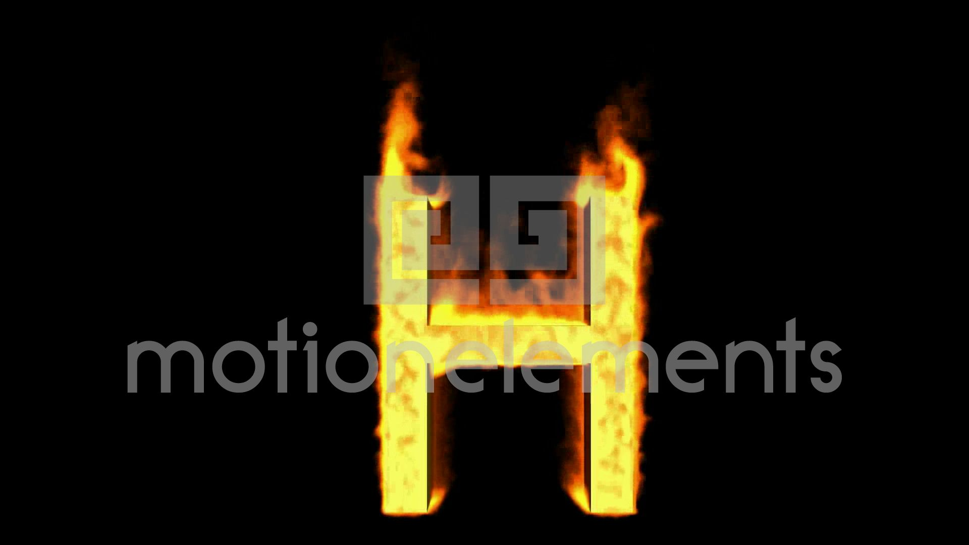 H Letter In Fire Hd Frame Still  Fire letter H