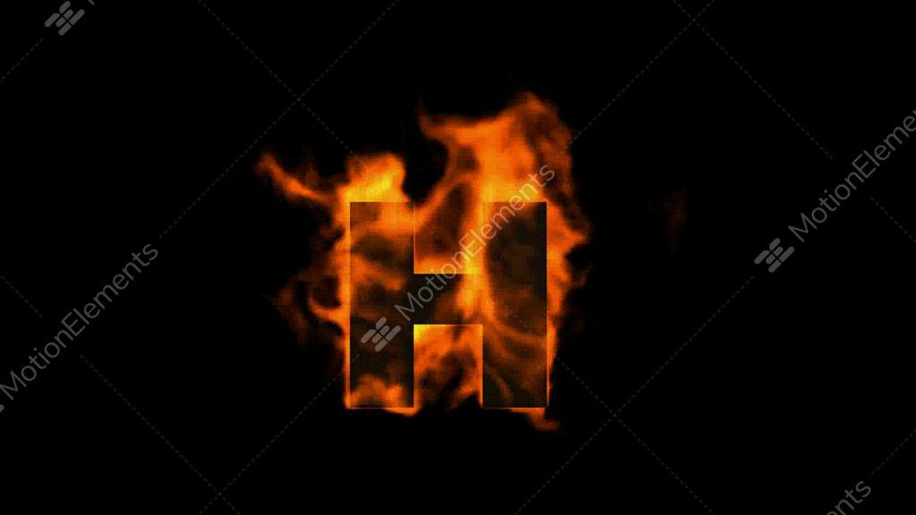 Letters Symbols Fire Letter H Stock Illustration 133464950 ...