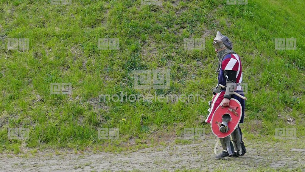 Defeated, Tired Medieval Knight Returns Home Stock Video ...