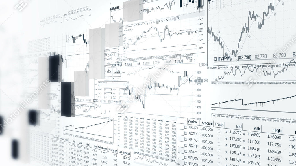 finance bar graphs  market analyze  business analytics background stock animation