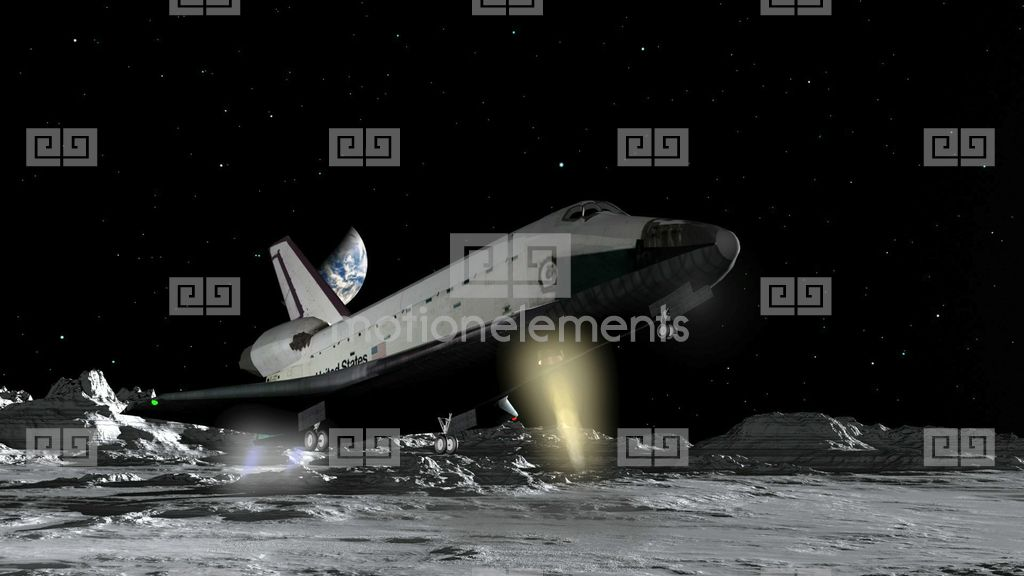 space shuttle crashing on the moon - photo #8