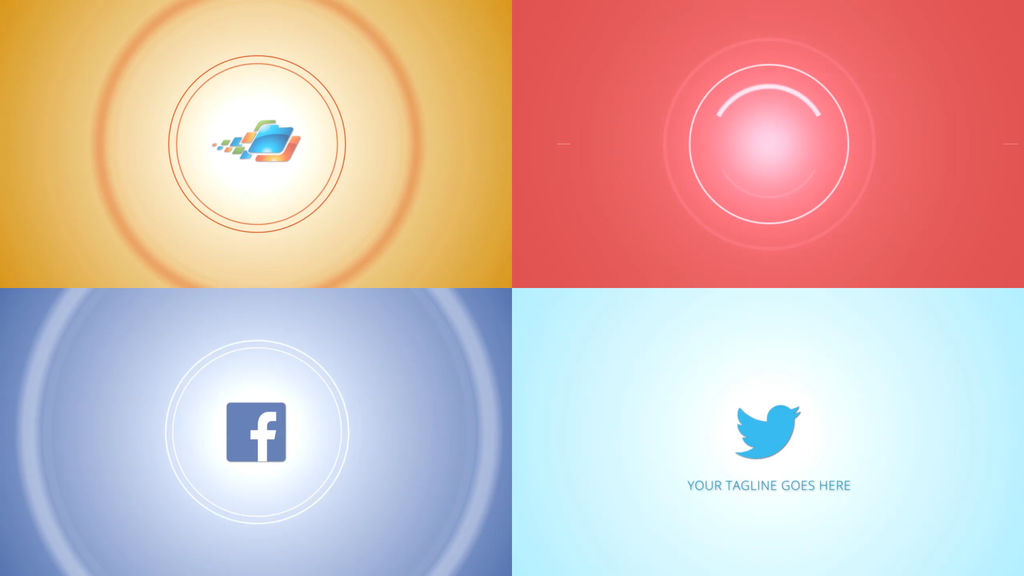 Modern circle logo apple motion and final cut pro x for Apple motion templates for sale