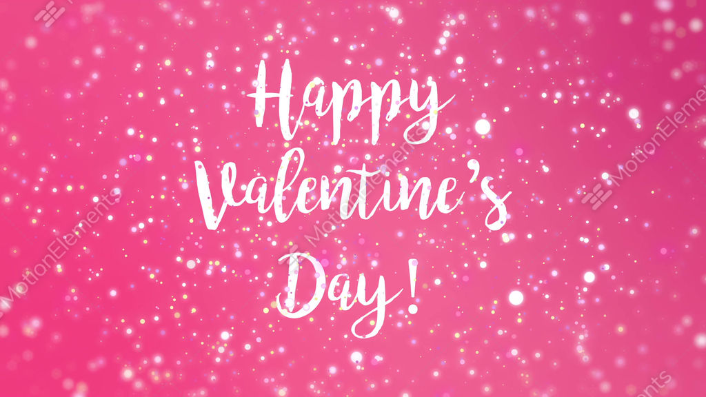 Romantic Sparkly Pink Happy Valentine\'s Day Greeting Animation ...