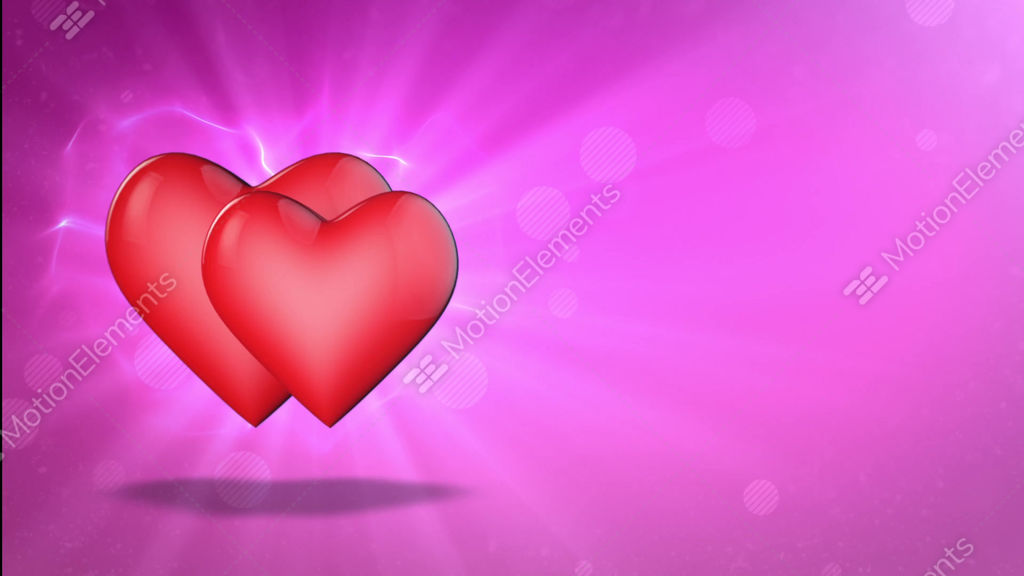 Two Lovers Hearts Happy Valentine S Day 3d Animation Stock