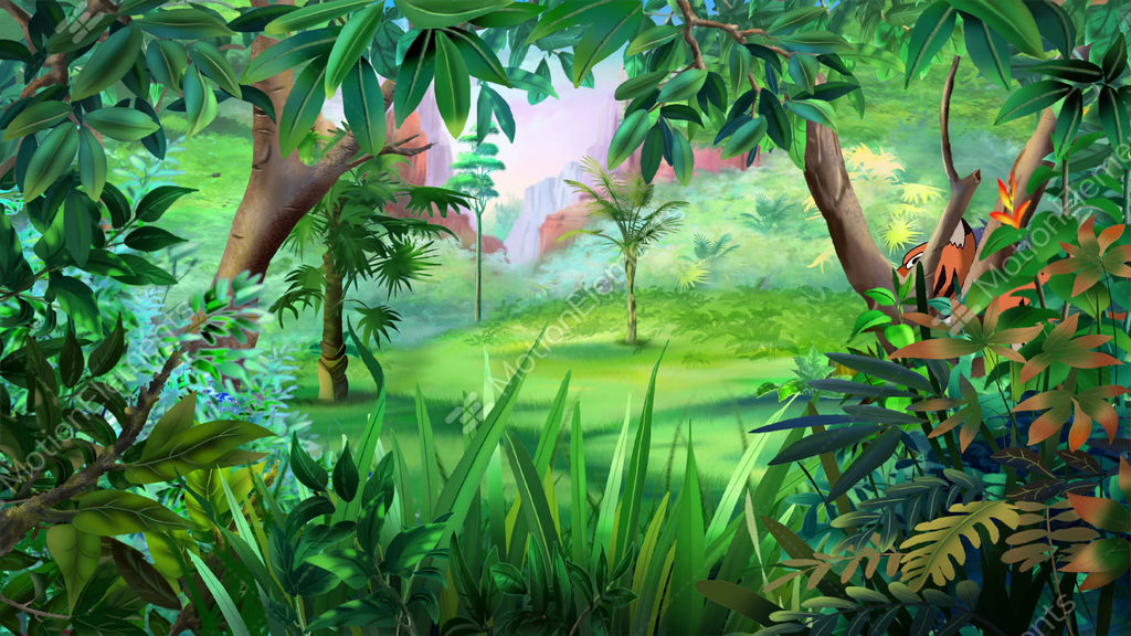 Bengal tiger walks through jungle stock animation 10276702 for Classic jungle house for small animals