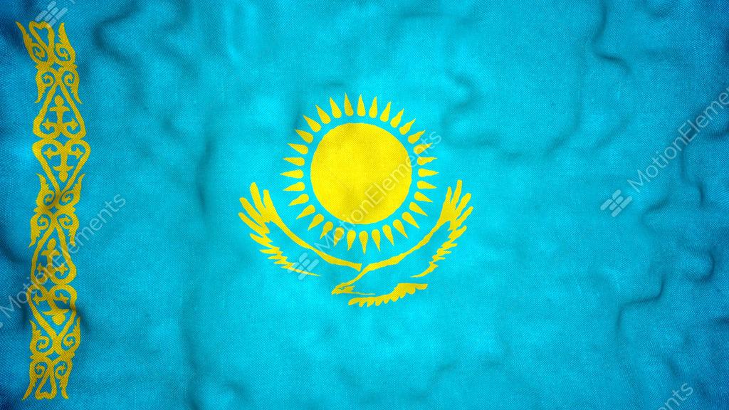 Kazakh Flag Seamless Video Loop Stock Animation