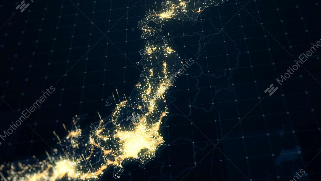 Japan map night lighting close view stock animation 10287555 japan map night lighting close view stock video footage gumiabroncs Choice Image