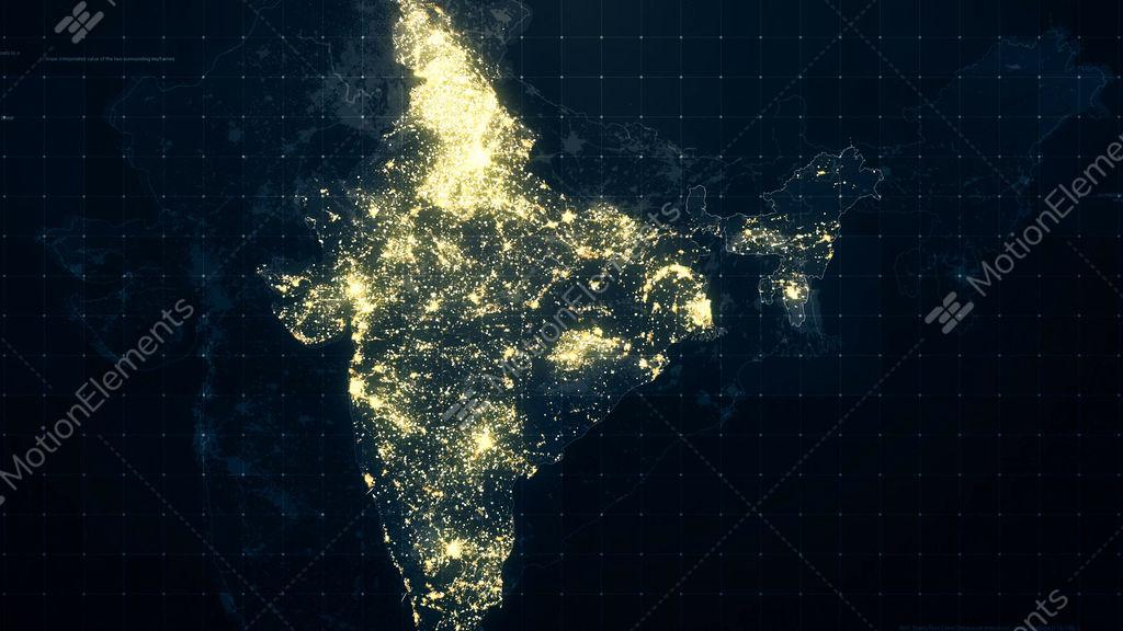 India map night lighting rollback stock animation 10313120 india map night lighting rollback stock video footage gumiabroncs Choice Image