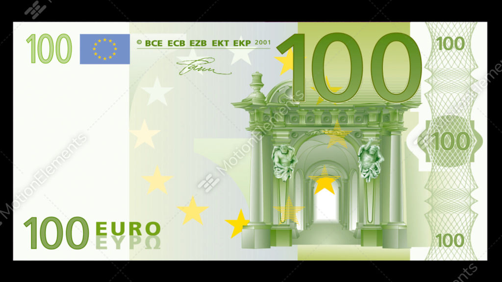 Burning 100 euro stock video footage 10324940 for Canape a 100 euros