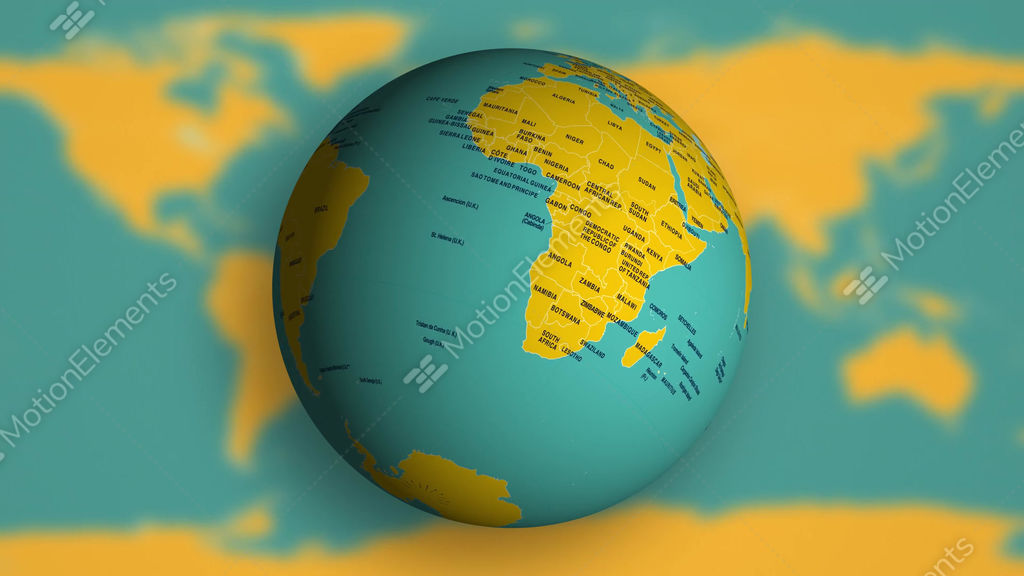 4k spinning earth globe with political world map stock video footage