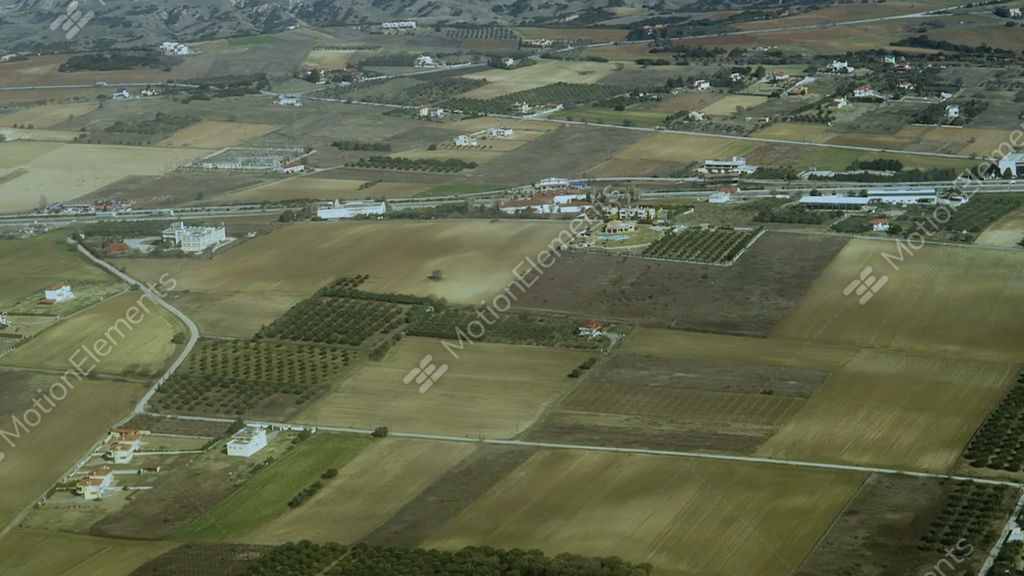 Mediterranean Countryside And Greek Highway Aerial Day ...