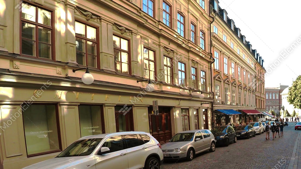 Ancient Narrow Street In Central Stockholm  Old Town Stock video footage