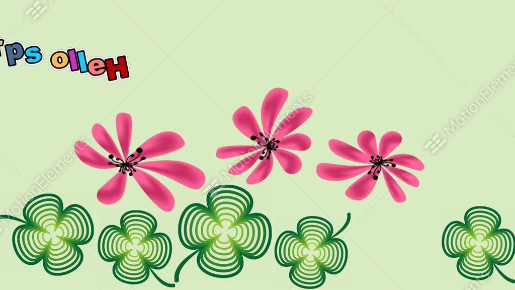 Hello spring animated banner with clover leafs and pink flowers hello spring animated banner with clover leafs and pink stock video footage mightylinksfo