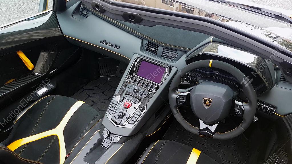 Lamborghini Aventador Sv Roadster Interior Stock Video Footage