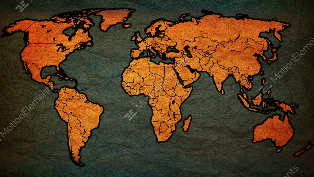 Vintage political map of world with national flags stock animation vintage political map of world with national flags stock video footage gumiabroncs Image collections