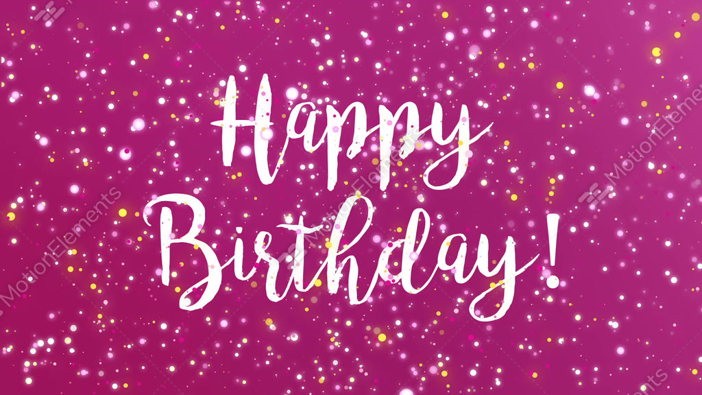 Sparkly Purple Happy Birthday Greeting Card Video Stock Footage