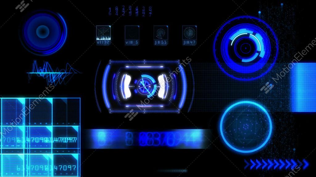 Hud Futuristic Computer Interface Stock Animation   10462502