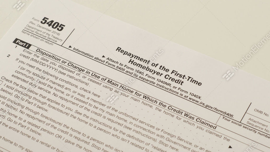Irs form 5405 repayment of first time homebuyer credit ~ footage.