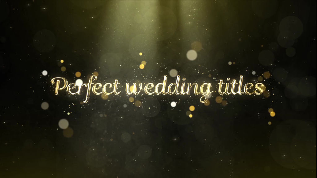Elegant Wedding Opener Titles After Effects templates