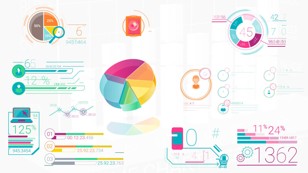 Colorful Corporate Infographic Elements After Effects templates