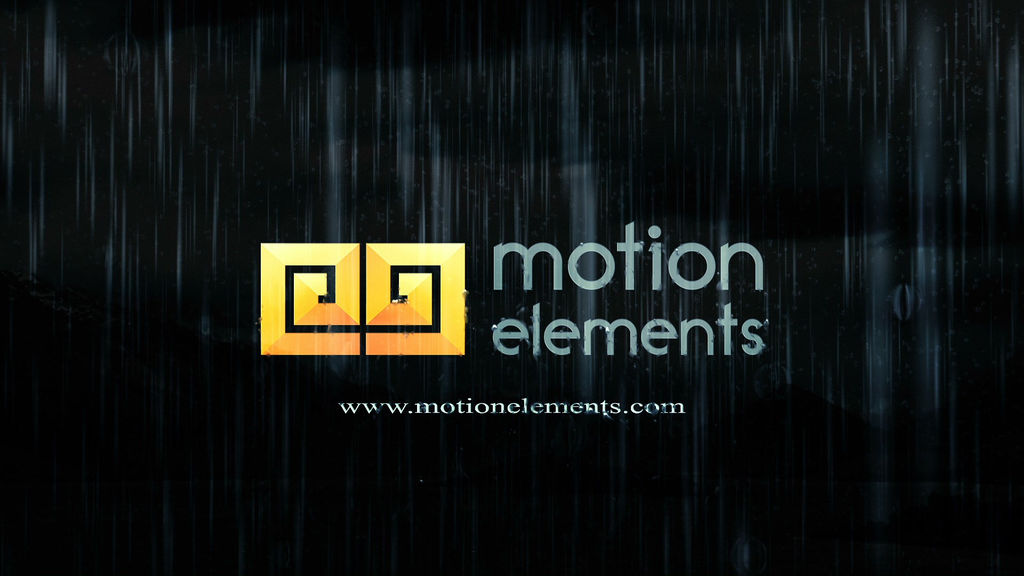 Rain Logo After Effects templates