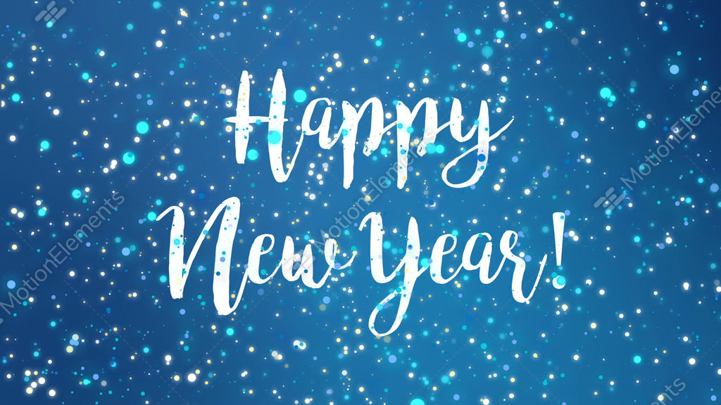 sparkly blue happy new year greeting card video stock video footage