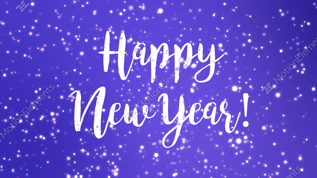 sparkly purple happy new year greeting card video stock video footage