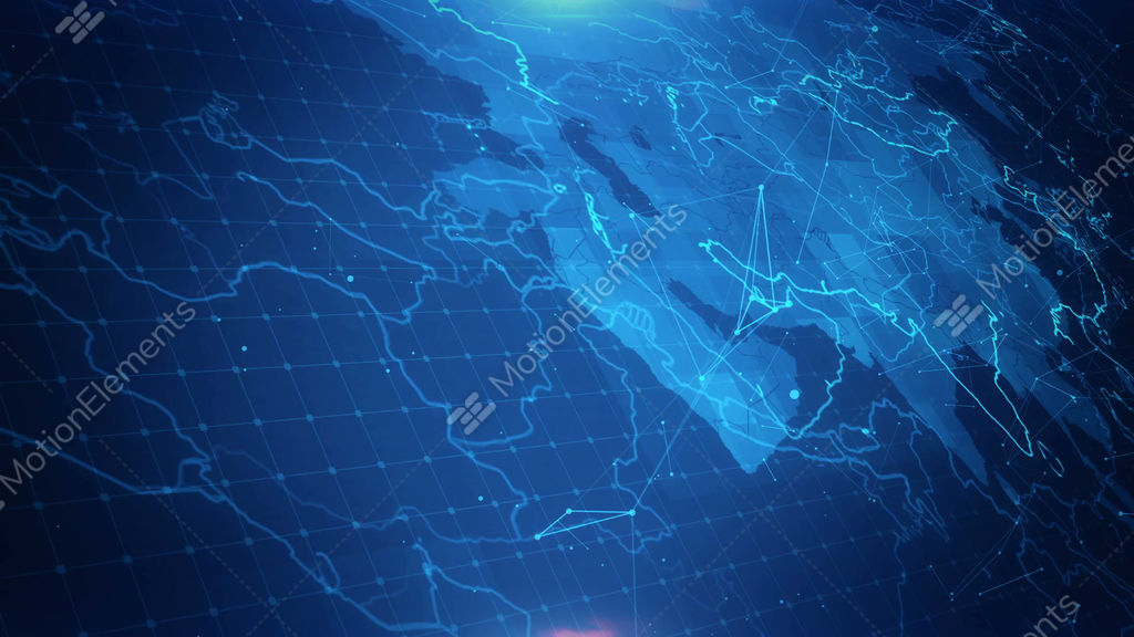 Map Of Asia Video.Asia Map Connections Stock Animation 11101248