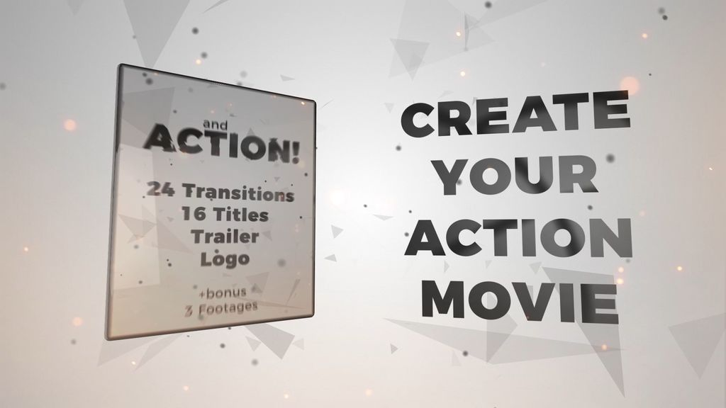 And Action! Titles, Trailer, Transitions, Logo Premiere Pro Template ...