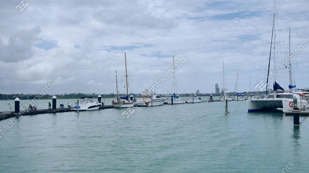 New Zealand Shooting Footage: Shot Of New Zealand Auckland Bayswater Marina & City View