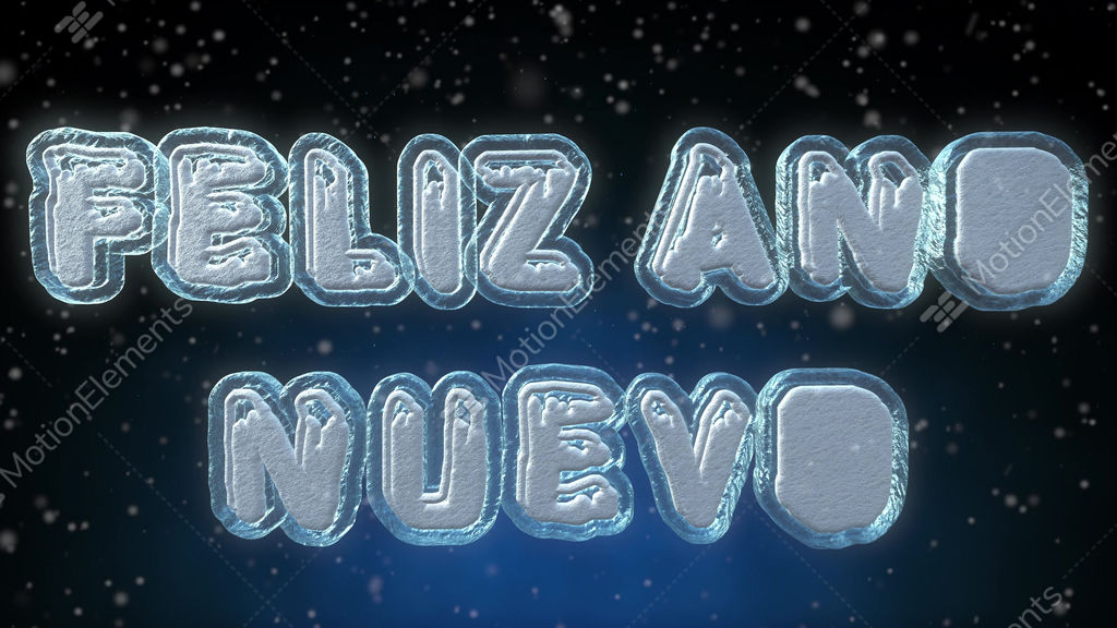 happy new year 3d text looping animation in spanish language stock video footage