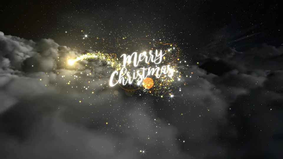 Christmas Clouds Slider After Effects templates