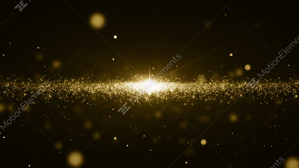 Gold Particles Bokeh Glitter Awards Dust Abstract Background Loop Stock  Animation