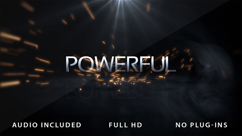 Powerful Logo Intro After Effects templates