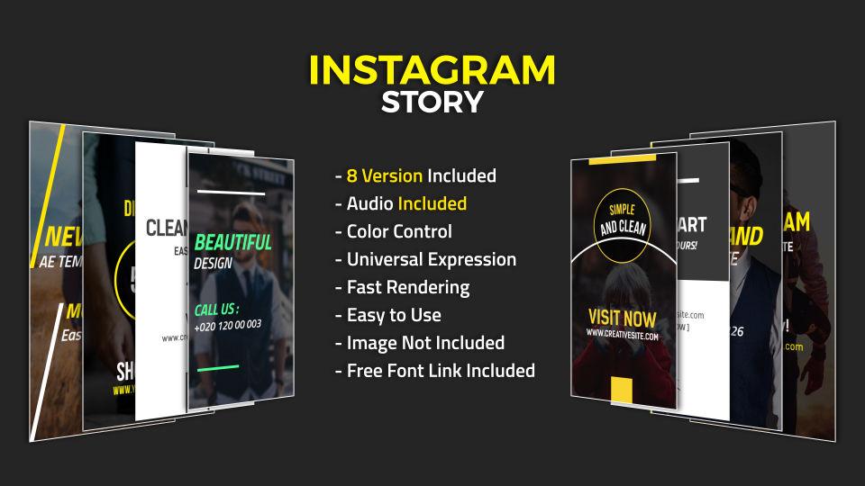 instagram story after effects templates 11399227. Black Bedroom Furniture Sets. Home Design Ideas