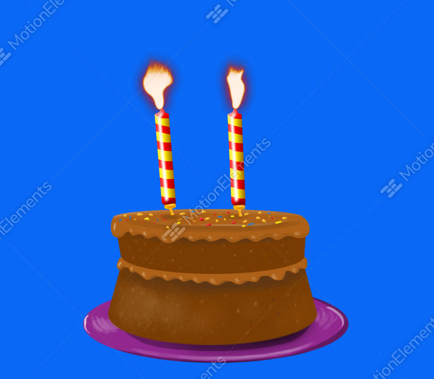 Birthday Cake Blowing Out Candles Stock Animation 9140319