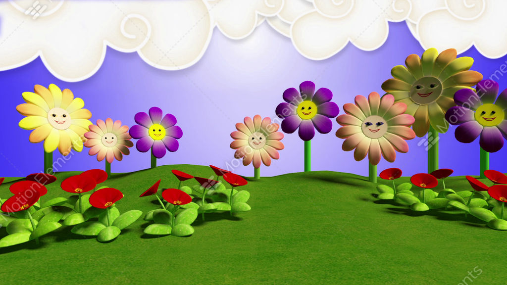 Kids TV Studio Set 03 - Virtual Background Loop Stock ...