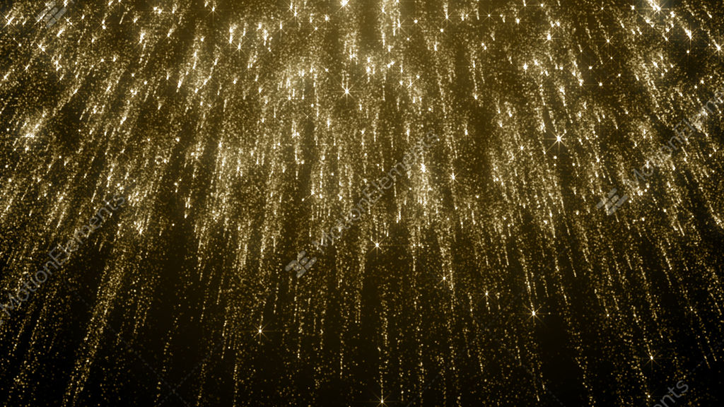 Particles Gold Bokeh Glitter Awards Dust Abstract Background Loop Stock  Animation
