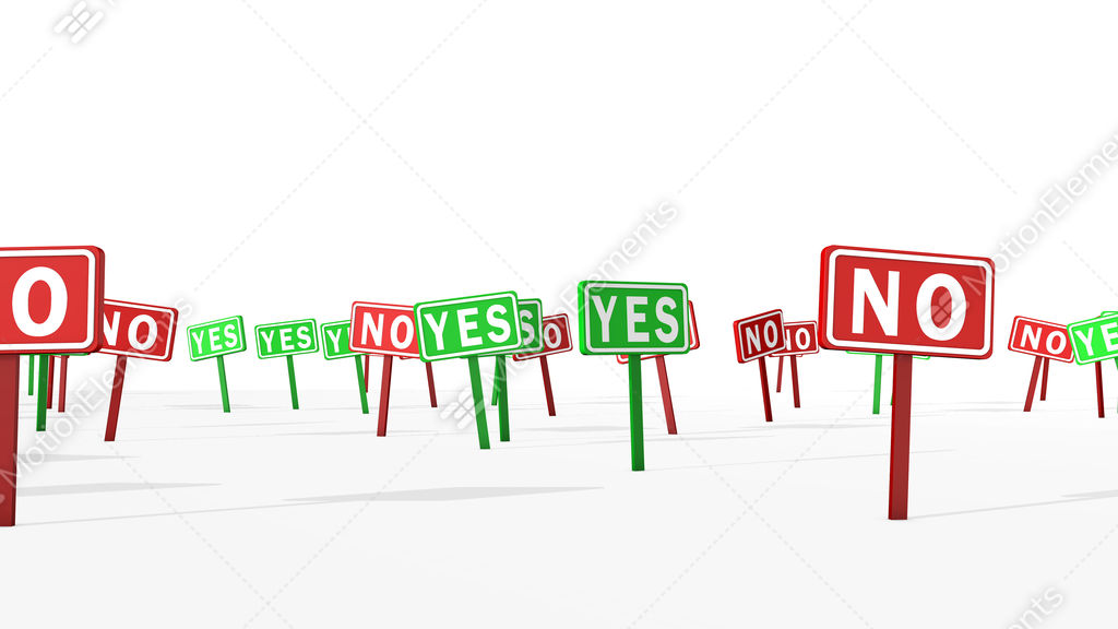 Yes And No Concept In Road Symbols Stock Animation 11588965