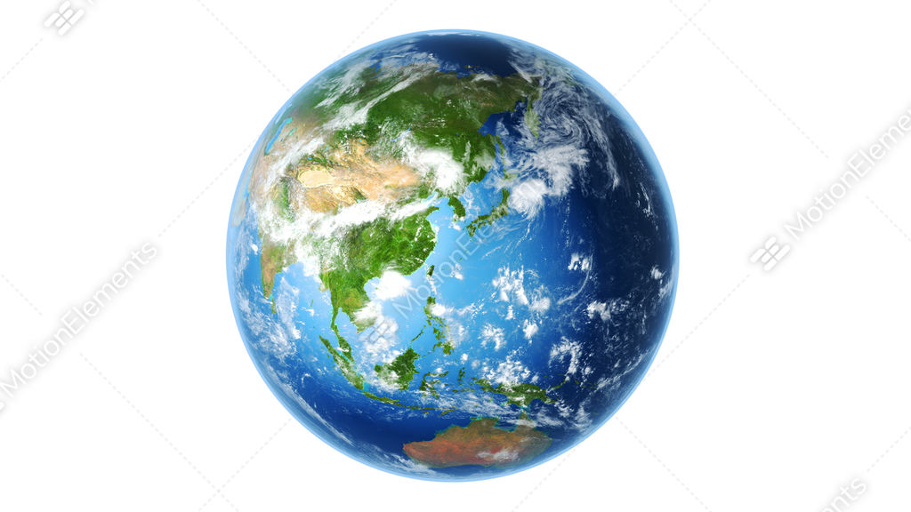 4k realistic earth rotating on white  loop  stock Planet Earth Clip Art Rotation Clip Art