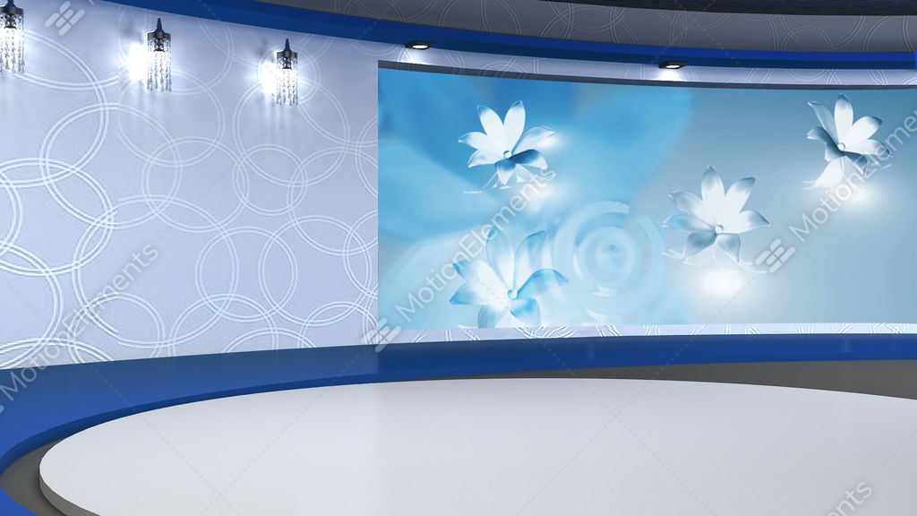 Talkshow Tv Studio Set 03 Virtual Green Screen
