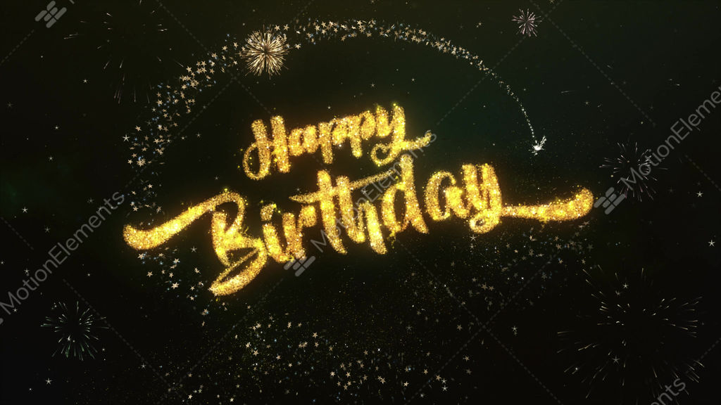 Happy Birthday Greeting And Wishes Made From Sparklers Stock Video Footage