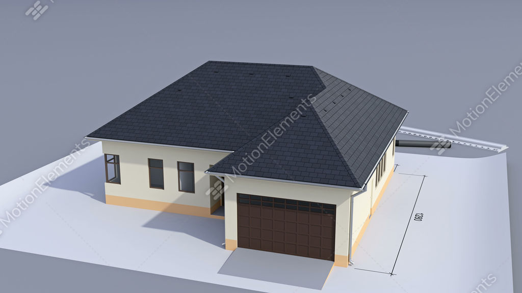 building a house with a hip roof  time