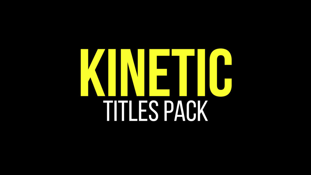Kinetic titles premiere pro template 11630112 for Premiere pro animated title templates