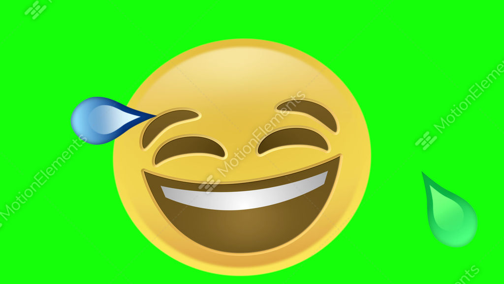 laughing emoji stock video footage