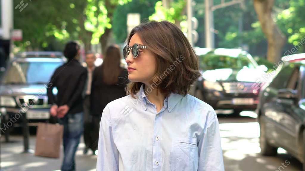 d84fbe0427 Beautiful Girl In Sunglasses Stock video footage